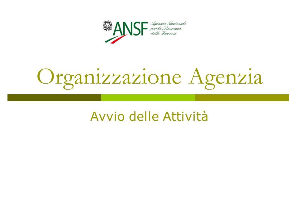 Organizzazione Agenzia Avvio delle Attività