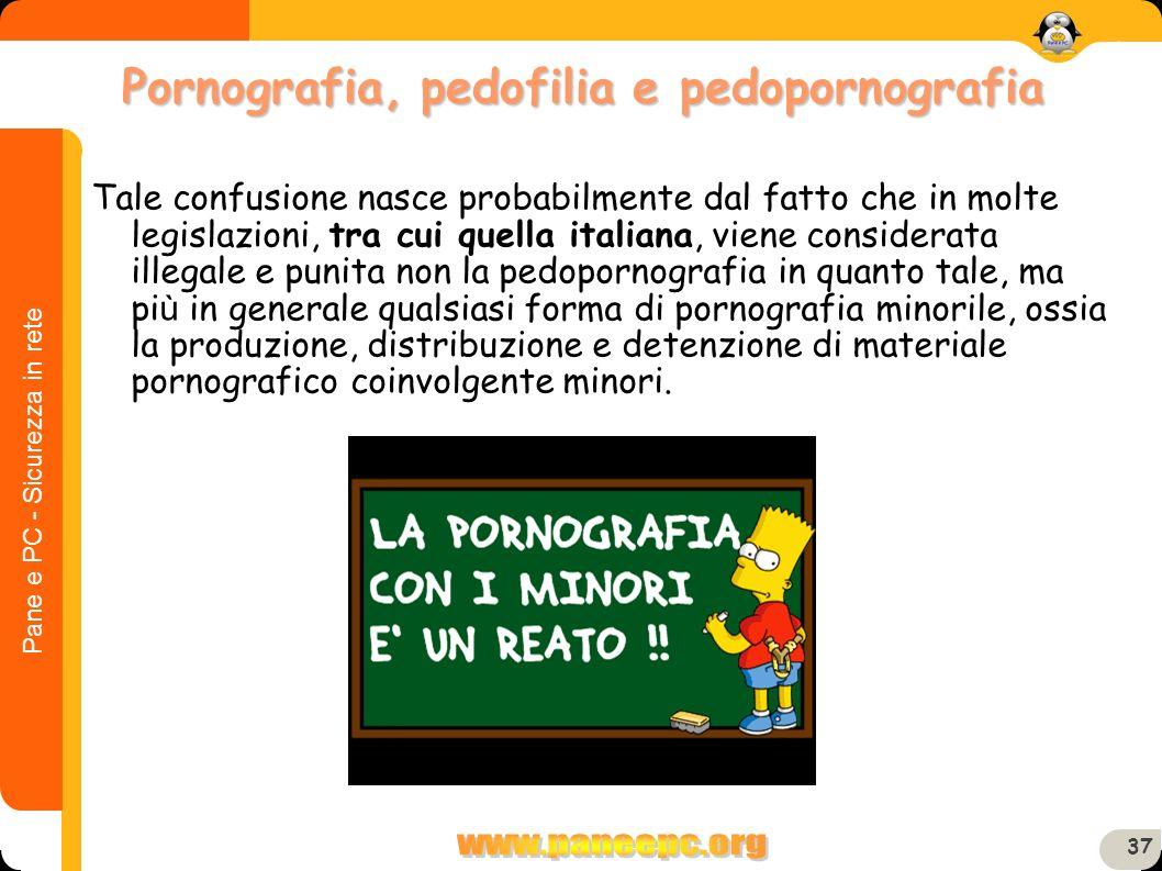 Pane e PC - Sicurezza in rete 37 Tale confusione nasce probabilmente dal fatto che in molte legislazioni, tra cui quella italiana, viene considerata i