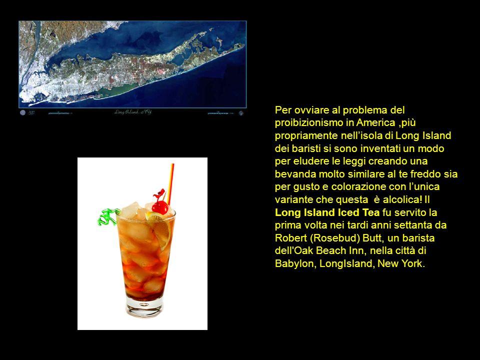 Per ovviare al problema del proibizionismo in America,più propriamente nellisola di Long Island dei baristi si sono inventati un modo per eludere le l