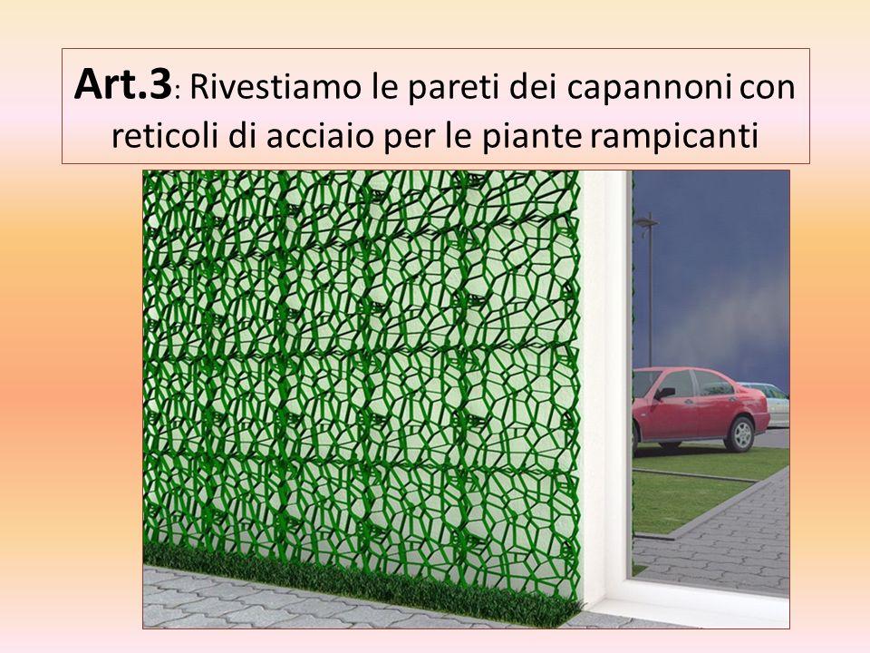 Art. 4: Stendiamo tappeti verdi nelle aree di parcheggio