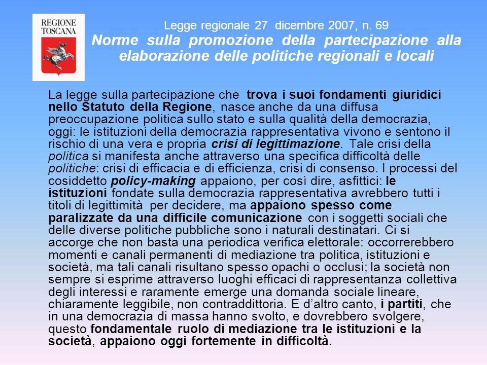 La fiducia nelle istituzioni (1) Base: popolazione (Italia/Toscana) 15÷74enni - Valori % (molto+abb.) ITALIA TOSCANA