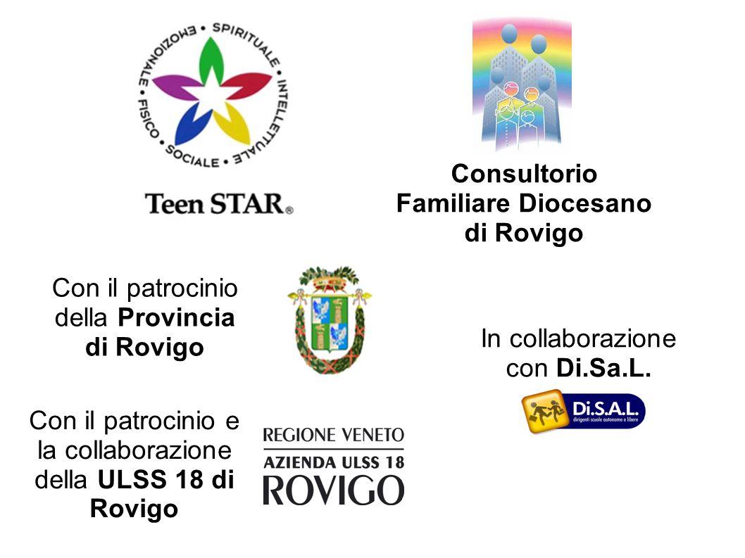Con il patrocinio della Provincia di Rovigo Con il patrocinio e la collaborazione della ULSS 18 di Rovigo Consultorio Familiare Diocesano di Rovigo In