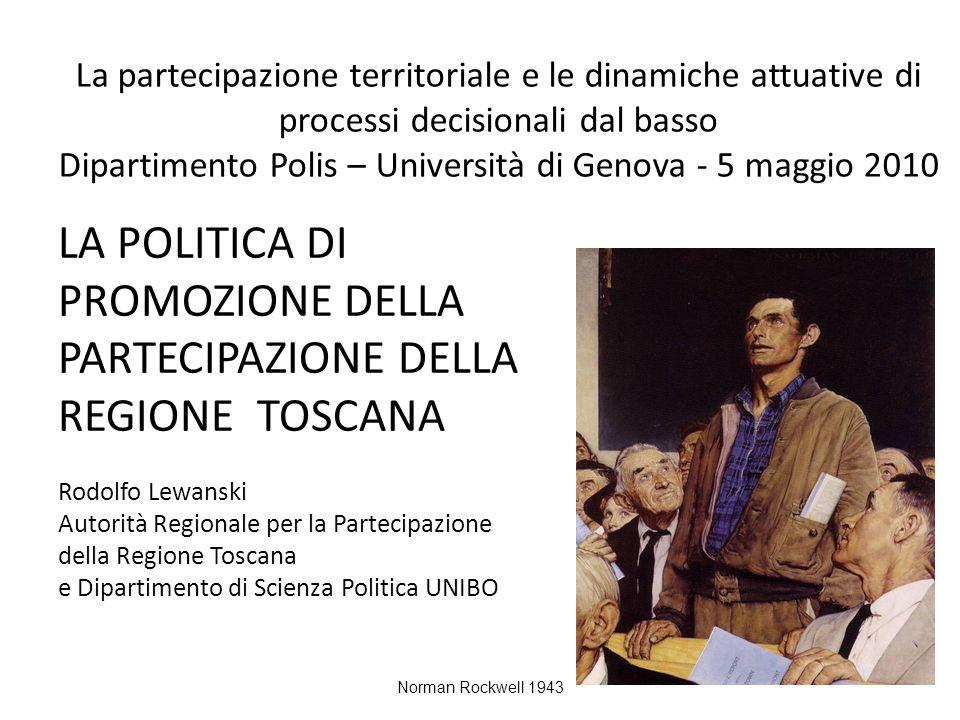 La partecipazione territoriale e le dinamiche attuative di processi decisionali dal basso Dipartimento Polis – Università di Genova - 5 maggio 2010 LA