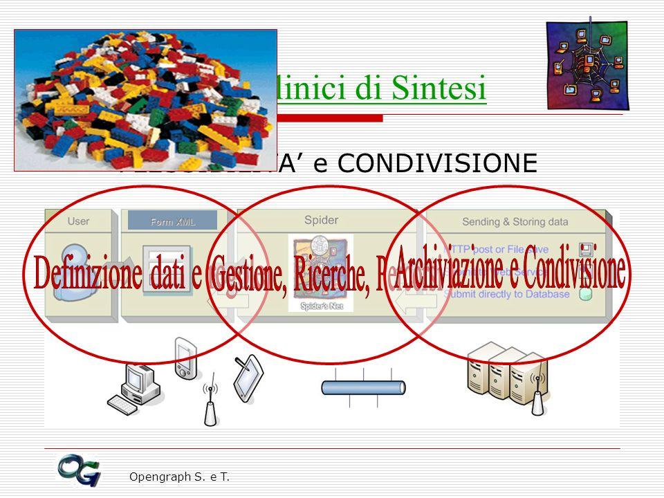 Opengraph S. e T. Form XML Gestione Dati Clinici di Sintesi FLESSIBILITA e CONDIVISIONE