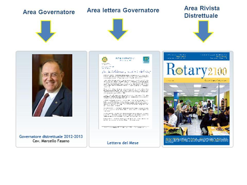 Area Governatore Area lettera Governatore Area Rivista Distrettuale