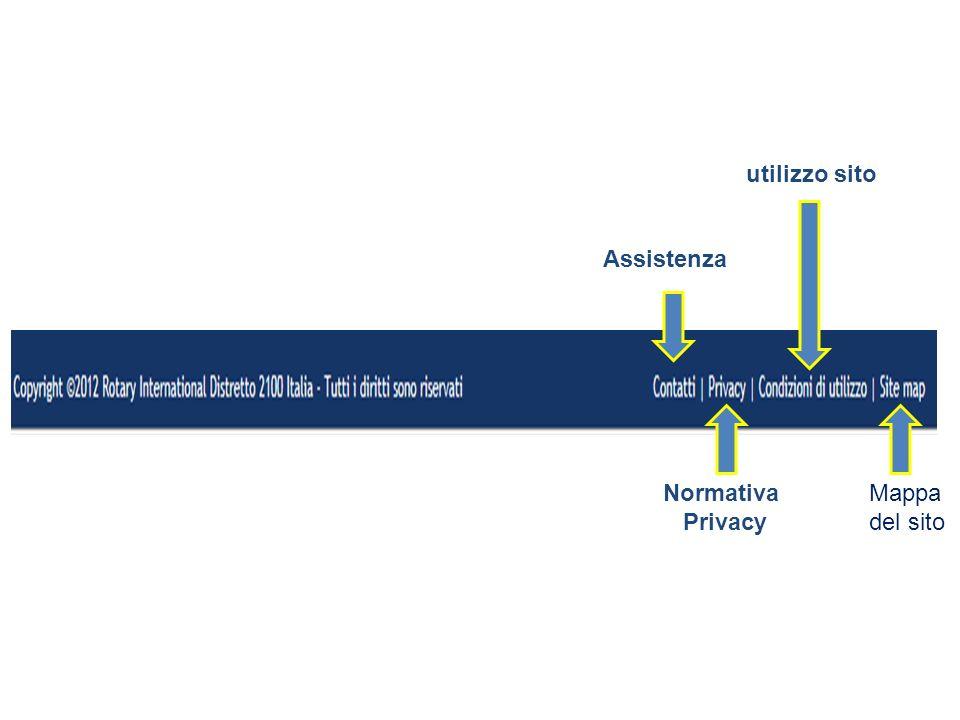 Assistenza Normativa Privacy utilizzo sito Mappa del sito