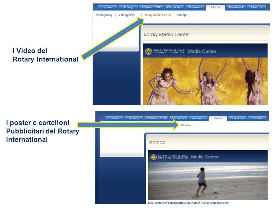 I Video del Rotary International I poster e cartelloni Pubblicitari del Rotary International