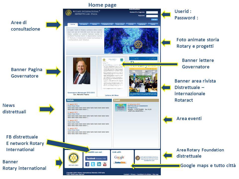 Home page Userid : Password : Foto animate storia Rotary e progetti Banner area rivista Distrettuale – internazionale Rotaract Area eventi Banner Pagi