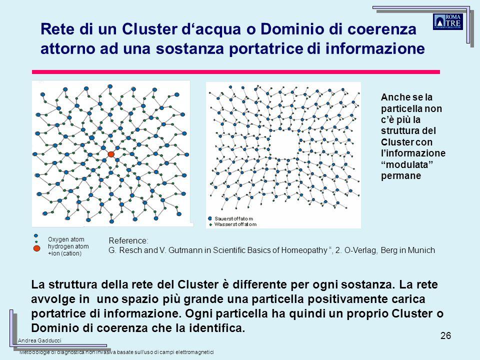 26 Oxygen atom hydrogen atom +ion (cation) La struttura della rete del Cluster è differente per ogni sostanza. La rete avvolge in uno spazio più grand