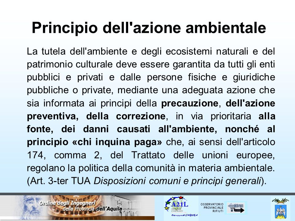 OSSERVATORIO PROVINCIALE RIFIUTI Deposito temporaneo (Art.