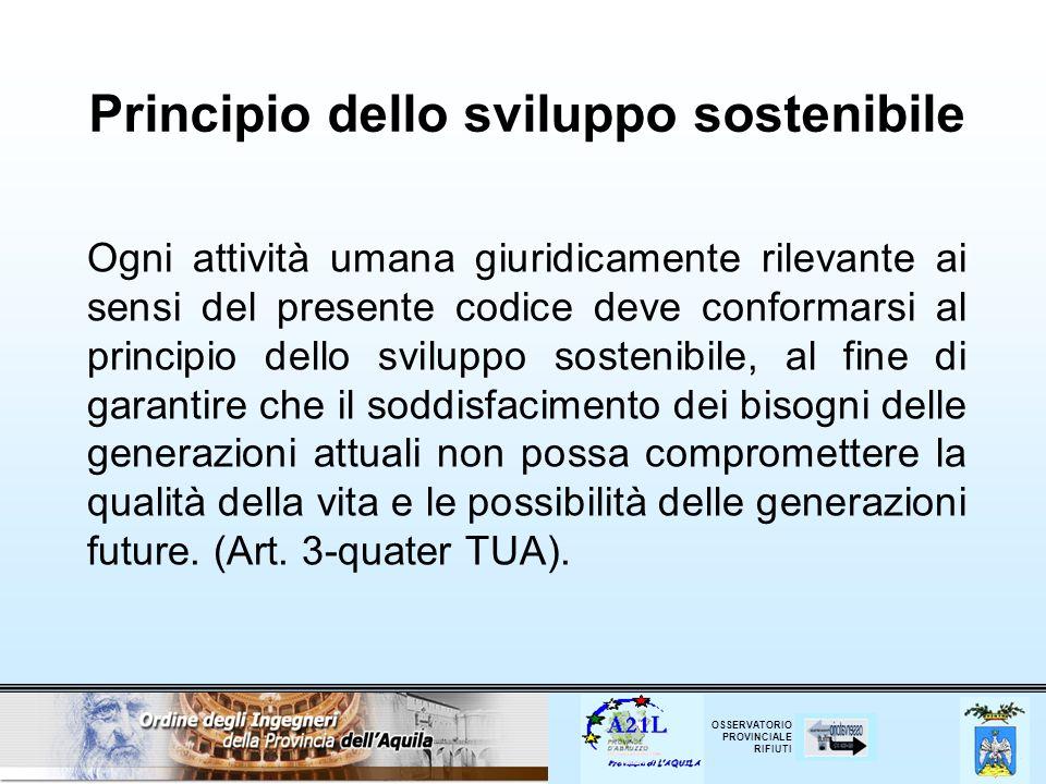 OSSERVATORIO PROVINCIALE RIFIUTI Deposito temporaneo - (Art.