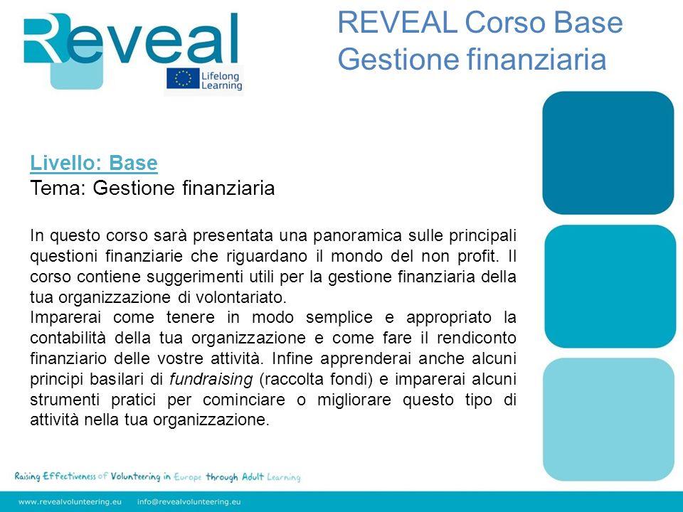 Modulo 4: Fundraising REVEAL Corso Base Gestione finanziaria Modulo 4 Fundraising Che cosè il fundraising.