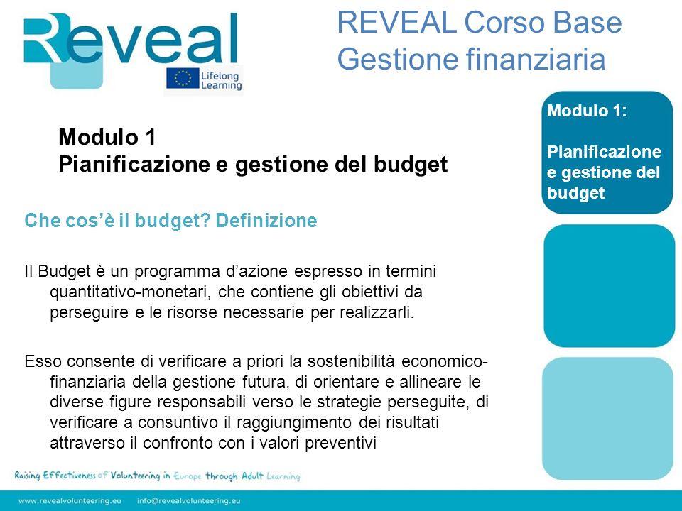 Modulo 1 Pianificazione e gestione del budget Che cosè il budget? Definizione Il Budget è un programma dazione espresso in termini quantitativo-moneta