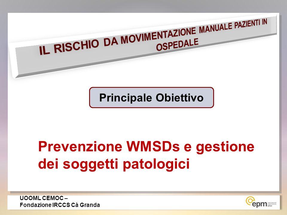 0 – 1,5 1,5-5,0 > 5 RISCHIO ASSENTE TRASCURABILE RISCHIO MEDIO RISCHIO MEDIO RISCHIO ELEVATO REPARTI: MAPO INDEX 2 STUDI DI ASSOCIAZIONE RISCHIO/DANNO CON SOSTANZIALE CONFERMA DEL GRADO DI ASSOCIAZIONE (400 reparti e 6000 esposti) UOOML CEMOC - Fondazione IRCCS Cà Granda