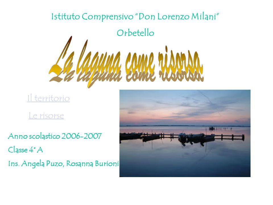 Anno scolastico 2006-2007 Classe 4° A Ins. Angela Puzo, Rosanna Burioni Istituto Comprensivo Don Lorenzo Milani Orbetello Il territorio Le risorse