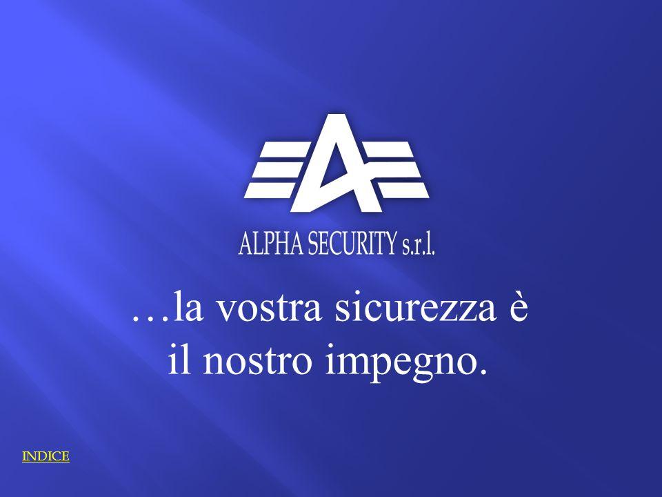 …la vostra sicurezza è il nostro impegno. INDICE