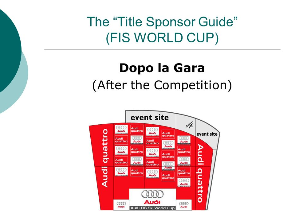 The Title Sponsor Guide (FIS WORLD CUP) Dopo la Gara (After the Competition)