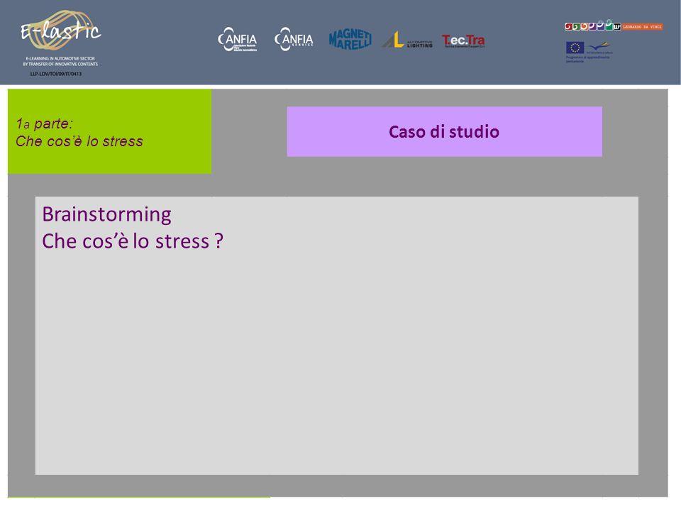 1 a parte: Che cosè lo stress Lo stress .