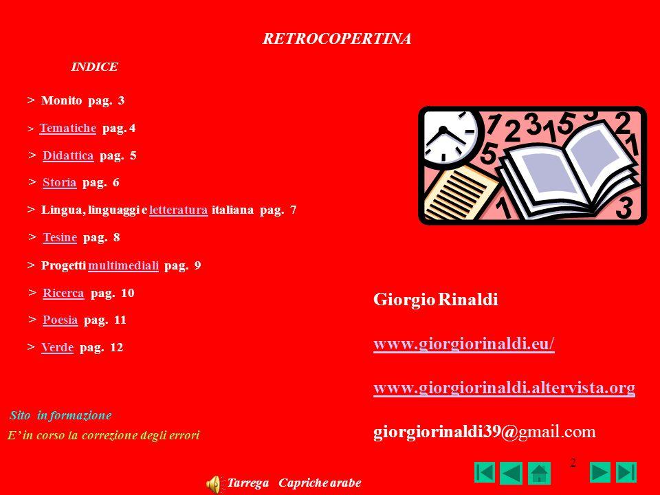 1 GIORGIO RINALDI DI MATERA SOLEDAD COPERTINA INDICE pag. 2 Beethoven Per Elisa
