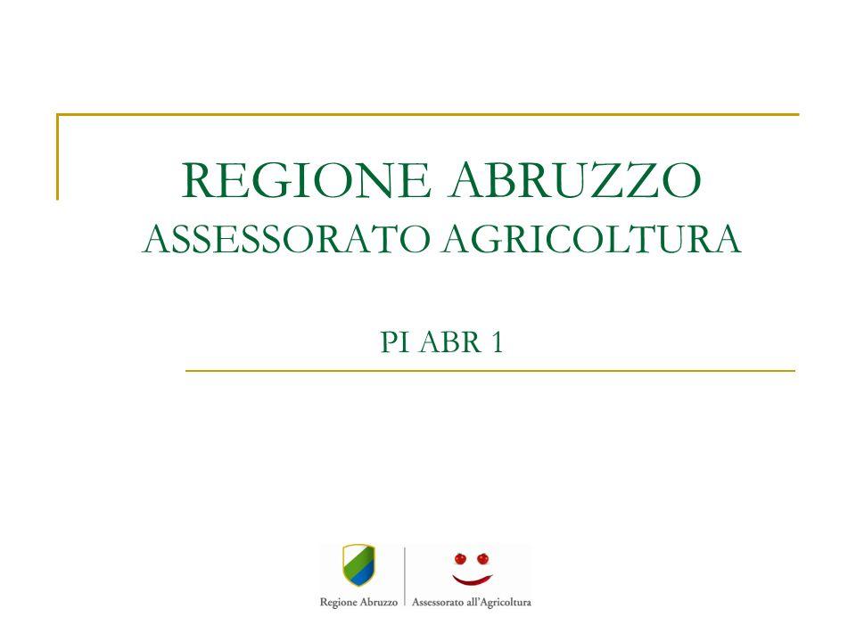 Il Partner PI ABR 1 REGIONE ABRUZZO Assessorato Agricoltura, Foreste e Sviluppo Rurale, Caccia e Pesca VIA CATULLO 17 65127 PESCARA assagri@regione.abruzzo.it Tel.