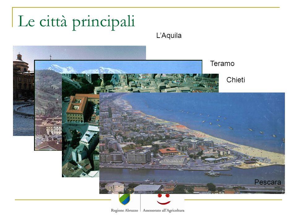 Le città principali LAquila Teramo Chieti Pescara