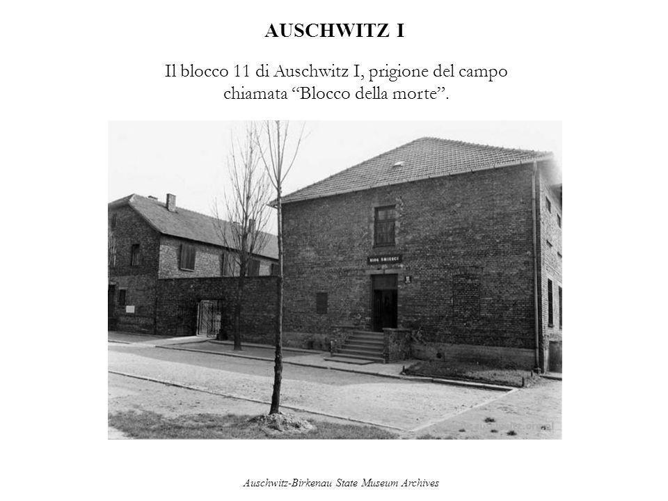 AUSCHWITZ I Il blocco 11 di Auschwitz I, prigione del campo chiamata Blocco della morte. Auschwitz-Birkenau State Museum Archives