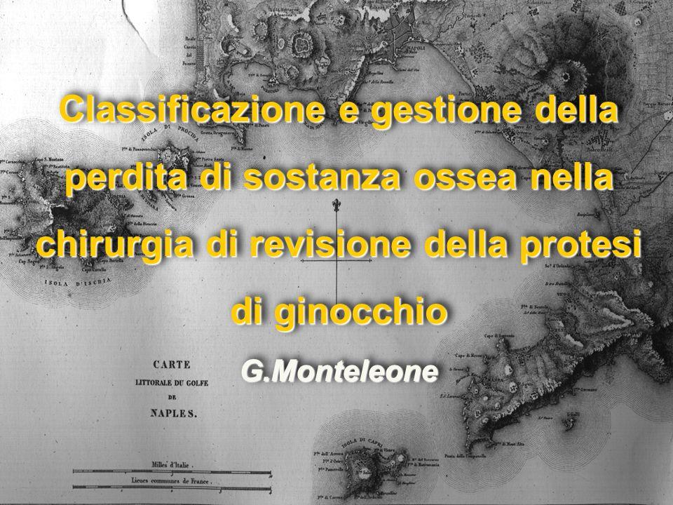 Classificazione e gestione della perdita di sostanza ossea nella chirurgia di revisione della protesi di ginocchio G.Monteleone