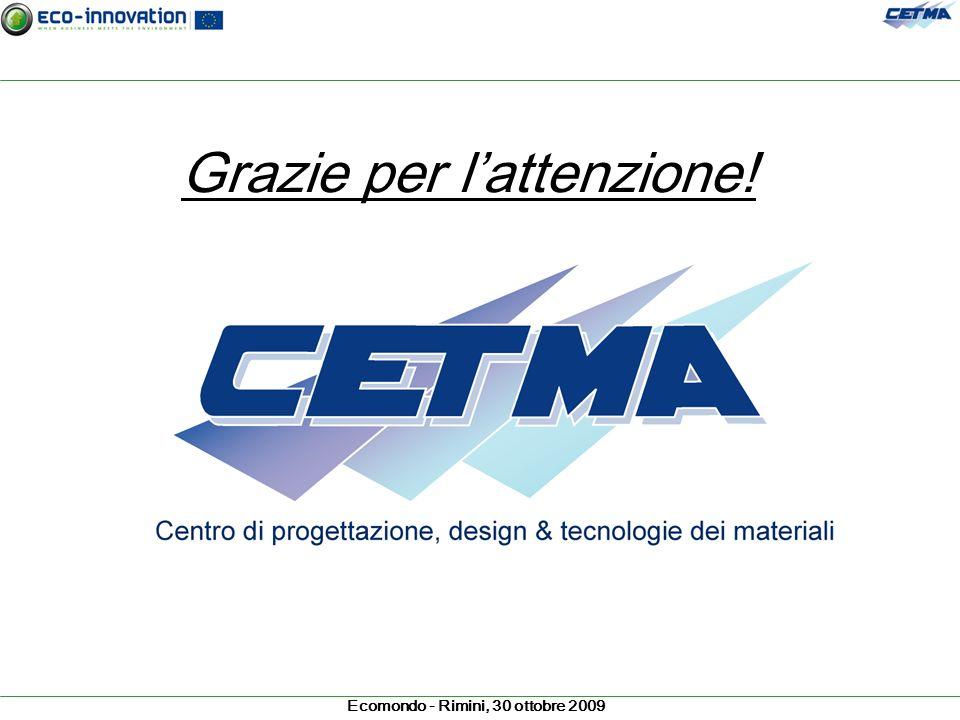 Ecomondo - Rimini, 30 ottobre 2009 Grazie per lattenzione!