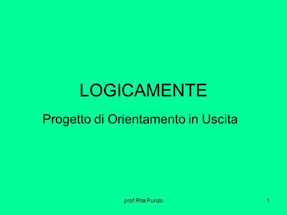 prof.Rita Punzo1 LOGICAMENTE Progetto di Orientamento in Uscita
