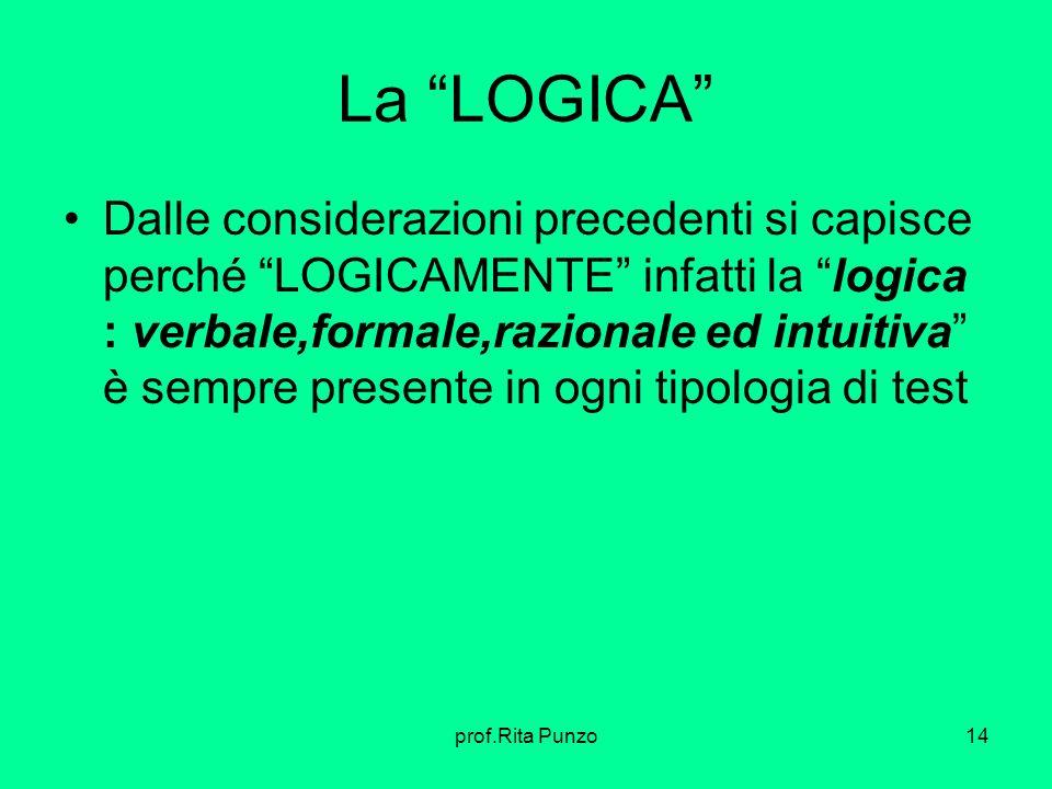 La LOGICA Dalle considerazioni precedenti si capisce perché LOGICAMENTE infatti la logica : verbale,formale,razionale ed intuitiva è sempre presente i