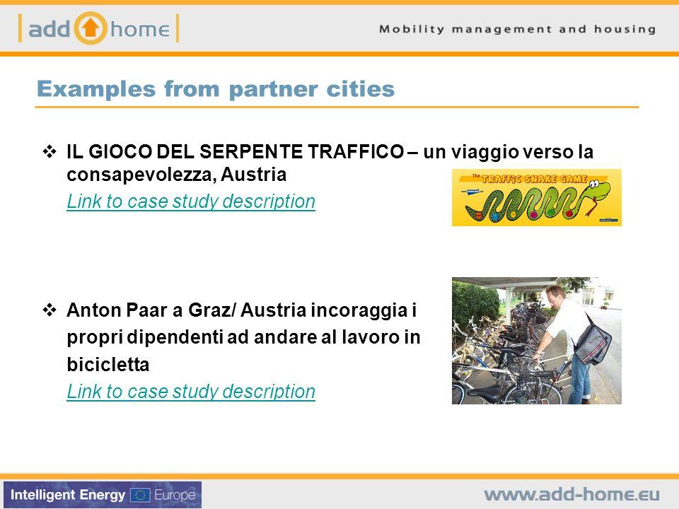 Examples from partner cities IL GIOCO DEL SERPENTE TRAFFICO – un viaggio verso la consapevolezza, Austria Link to case study description Anton Paar a