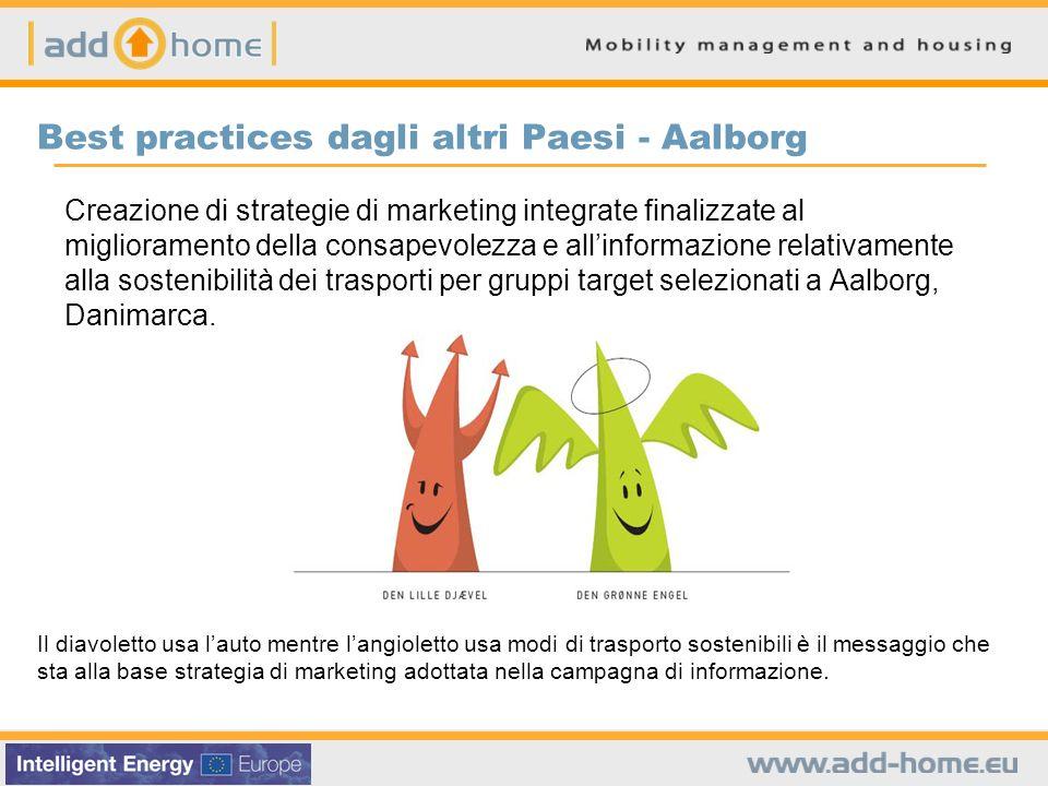 Best practices dagli altri Paesi - Aalborg Creazione di strategie di marketing integrate finalizzate al miglioramento della consapevolezza e allinform