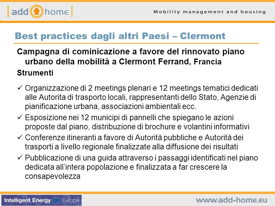 Best practices dagli altri Paesi – Clermont Campagna di cominicazione a favore del rinnovato piano urbano della mobilità a Clermont Ferrand, Francia S