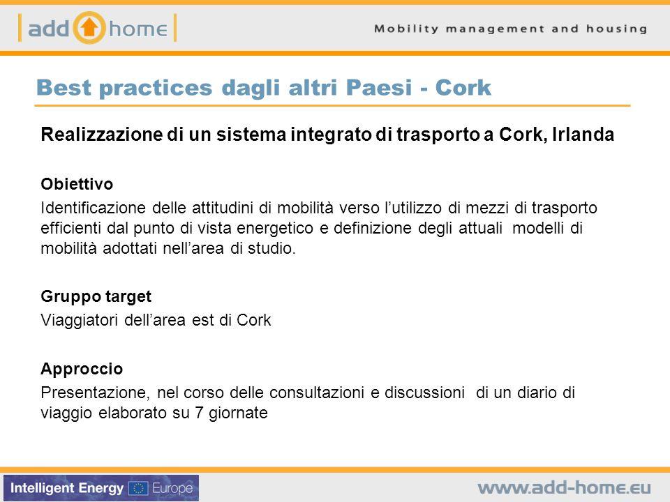Best practices dagli altri Paesi - Cork Realizzazione di un sistema integrato di trasporto a Cork, Irlanda Obiettivo Identificazione delle attitudini