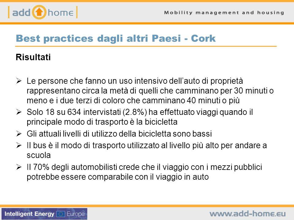 Best practices dagli altri Paesi - Cork Risultati Le persone che fanno un uso intensivo dellauto di proprietà rappresentano circa la metà di quelli ch
