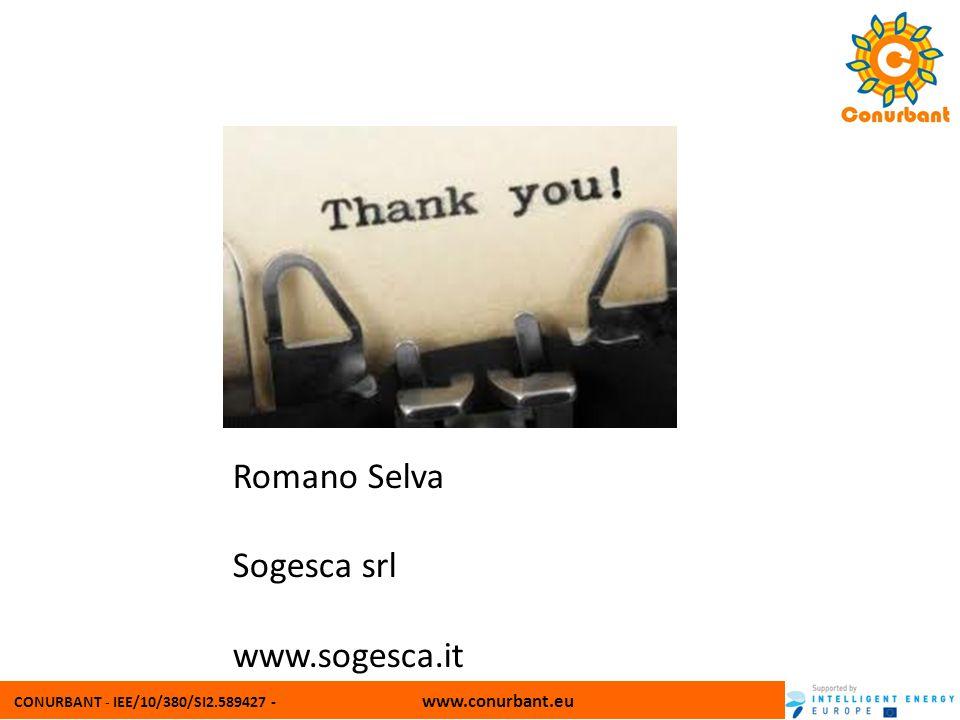CONURBANT - IEE/10/380/SI2.589427 - www.conurbant.eu Romano Selva Sogesca srl www.sogesca.it