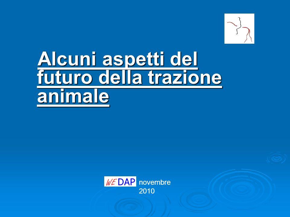 novembre 2010 Alcuni aspetti del futuro della trazione animale