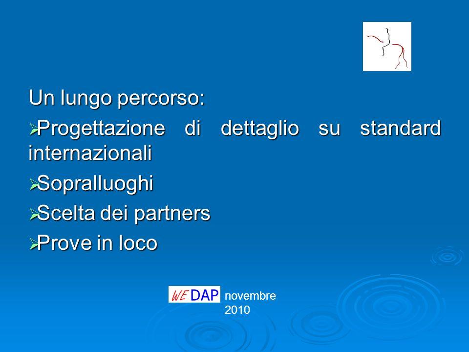 novembre 2010 Un lungo percorso: Progettazione di dettaglio su standard internazionali Progettazione di dettaglio su standard internazionali Sopralluo