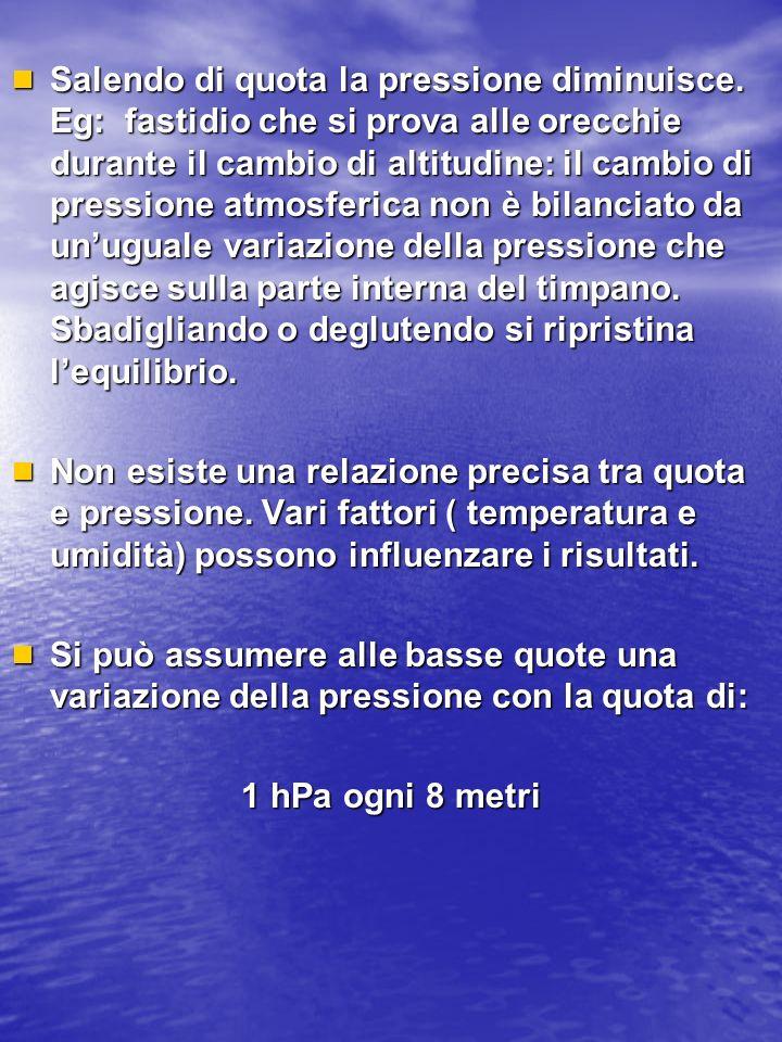 Lo strumento utilizzato per quantificare la pressione atmosferica è il barometro.