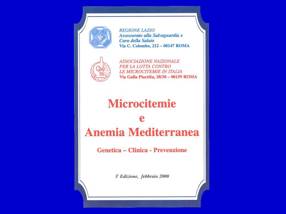 LANEMIA MEDITERRANEA LA CONDIZIONE GENETICA CHE CAUSA LA MALATTIA È LOMOZIGOSI PER UN DIFETTO MICROCITEMICO GRAVE (IN ITALIA MOLTO SPESSO LA MUTAZIONE °39 CT) OPPURE LETEROZIGOSI MISTA PER 2 DIFETTI MICROCITEMICI GRAVI.