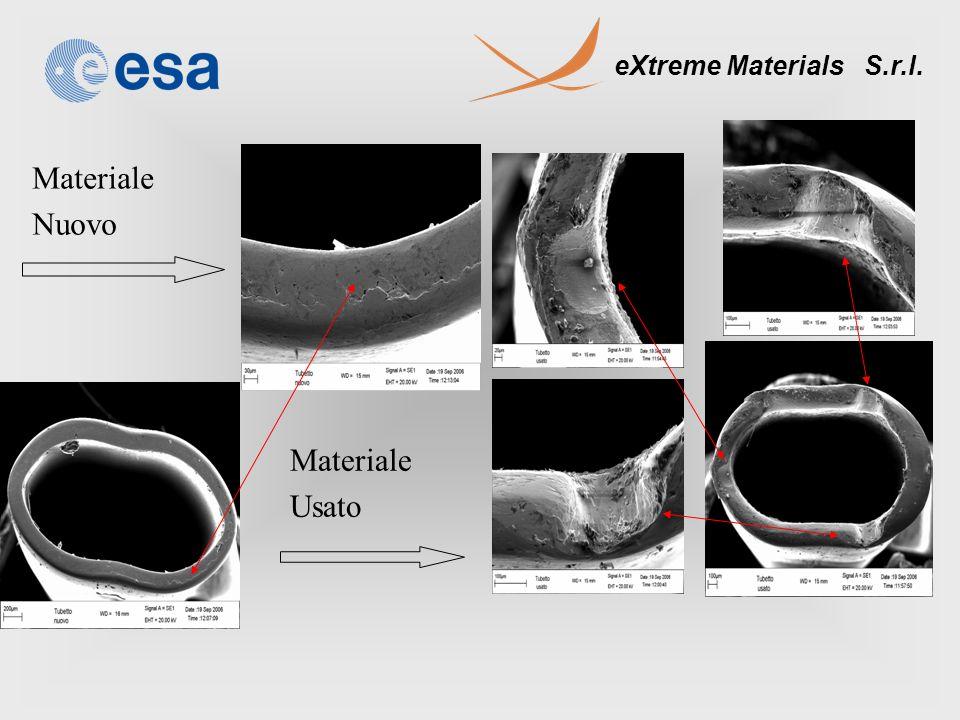 eXtreme Materials S.r.l. Materiale Nuovo Materiale Usato