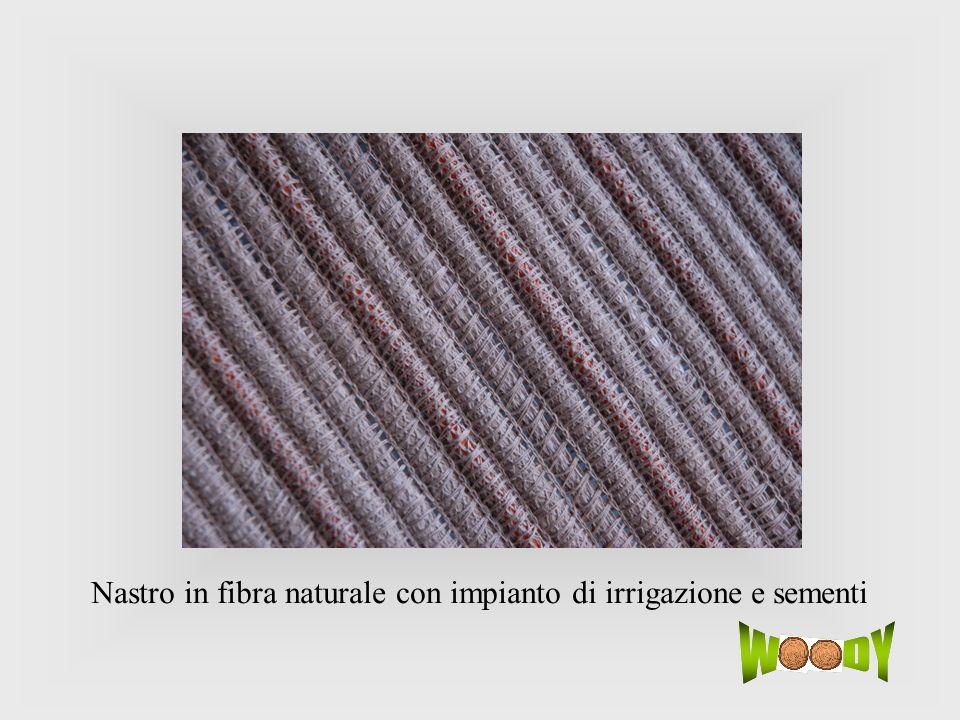 Nastro in fibra naturale con impianto di irrigazione e sementi