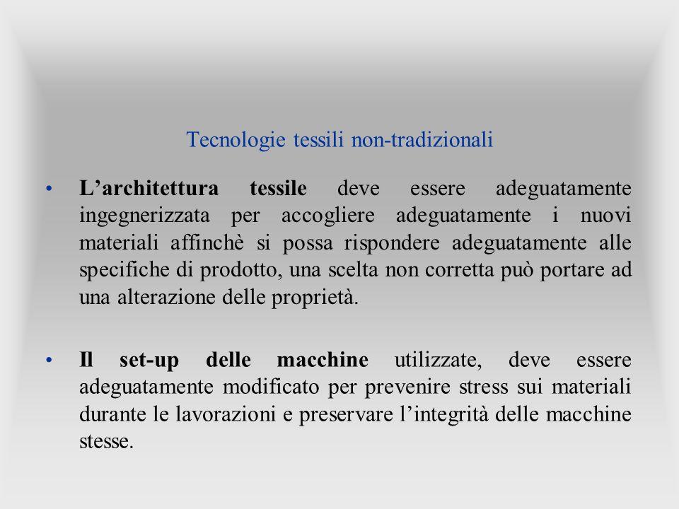 Larchitettura tessile deve essere adeguatamente ingegnerizzata per accogliere adeguatamente i nuovi materiali affinchè si possa rispondere adeguatamen