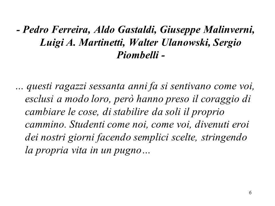 47 Giuseppe Malinverni è nato a Rivarolo l 8 apr.1925.