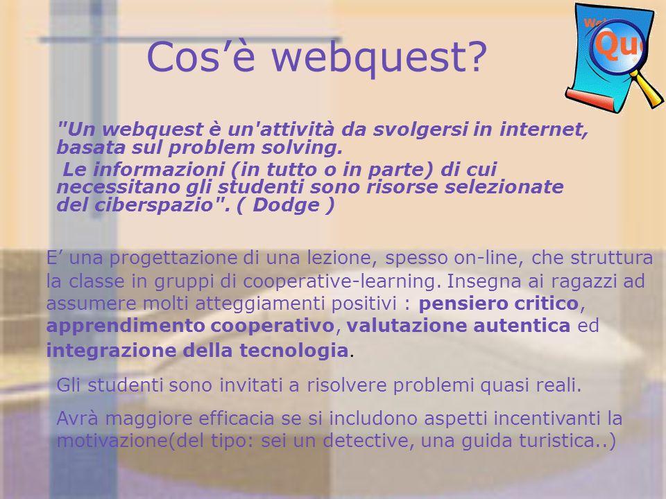 Cosè webquest?