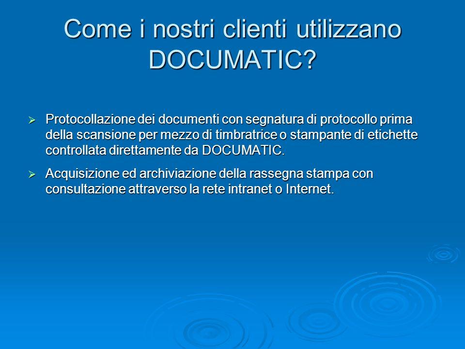 Come i nostri clienti utilizzano DOCUMATIC? Protocollazione dei documenti con segnatura di protocollo prima della scansione per mezzo di timbratrice o