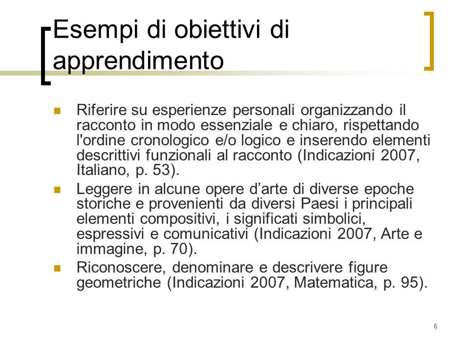 67 Creare Pianificare (definire piani, progettare sequenze di azioni, prevedere) 1.