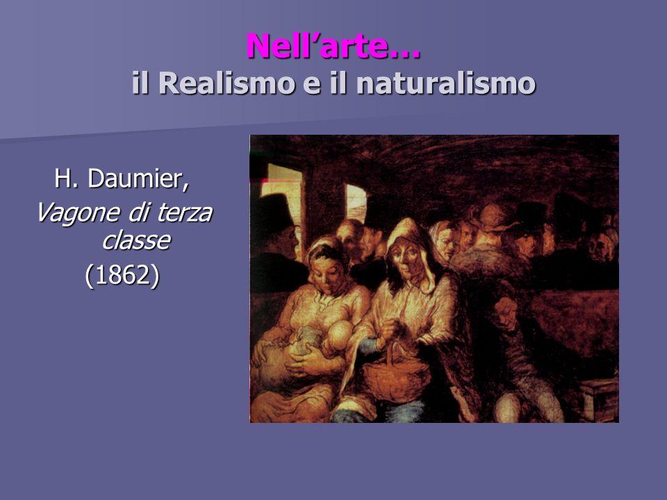 Nellarte… il Realismo e il naturalismo H. Daumier, Vagone di terza classe (1862)