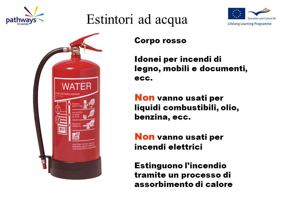 Estintori ad acqua Corpo rosso Idonei per incendi di legno, mobili e documenti, ecc.