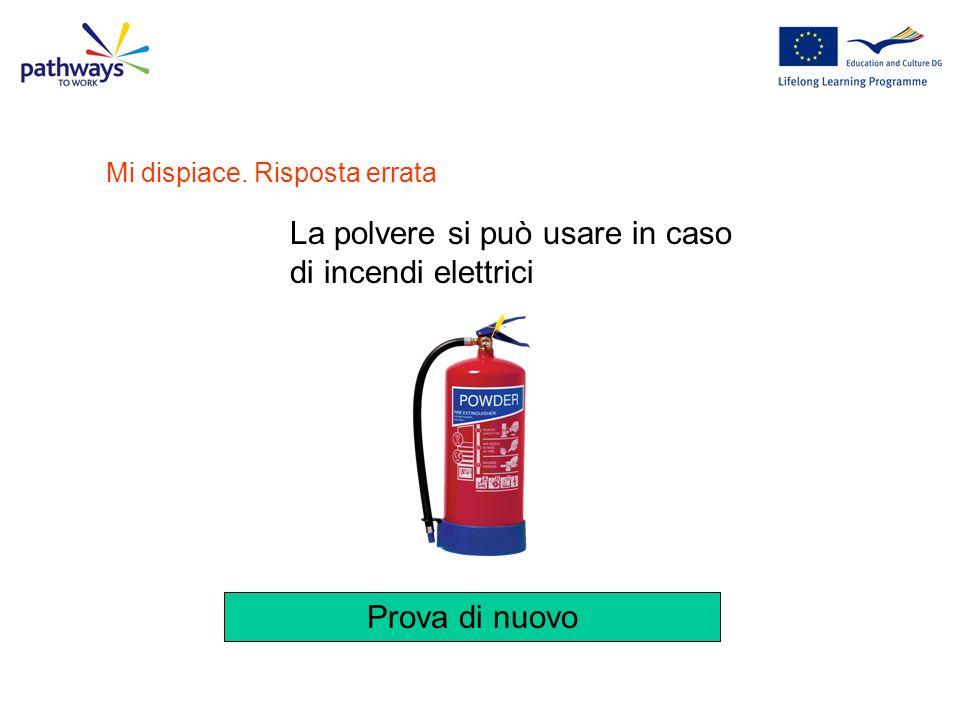 Quali dei seguenti estintori useresti per domare un incendio elettrico? Domanda 11